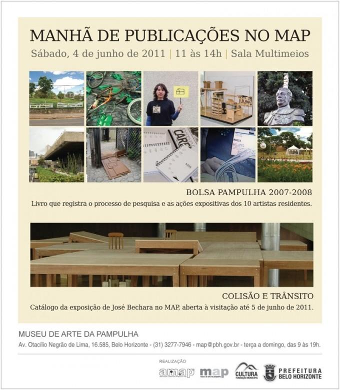 Convite Lanamentos de Publicaes no MAP2 680x781 Lançamento do livro Bolsa Pampulha 2007 2008