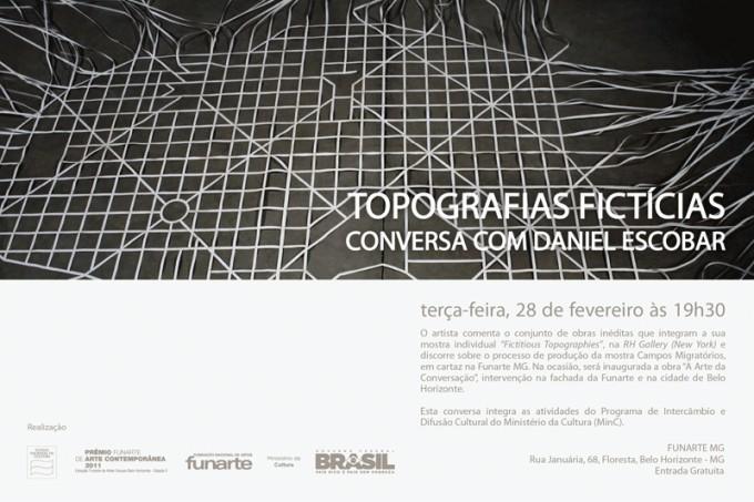 Conversa Funarte 680x453 Topografias Fictícias Conversa com Daniel Escobar na Funarte MG